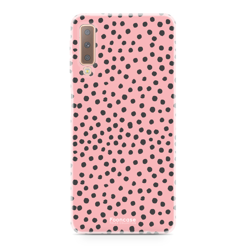 Samsung Samsung Galaxy A7 2018 - POLKA COLLECTION / Rosa