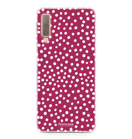 FOONCASE Samsung Galaxy A7 2018 - POLKA COLLECTION / Red