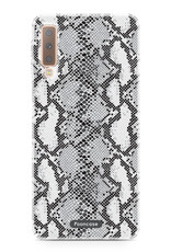 FOONCASE Samsung Galaxy A7 2018 hoesje TPU Soft Case - Back Cover - Snake it / Slangen print