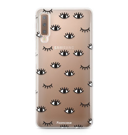 FOONCASE Samsung Galaxy A7 2018 - Eyes