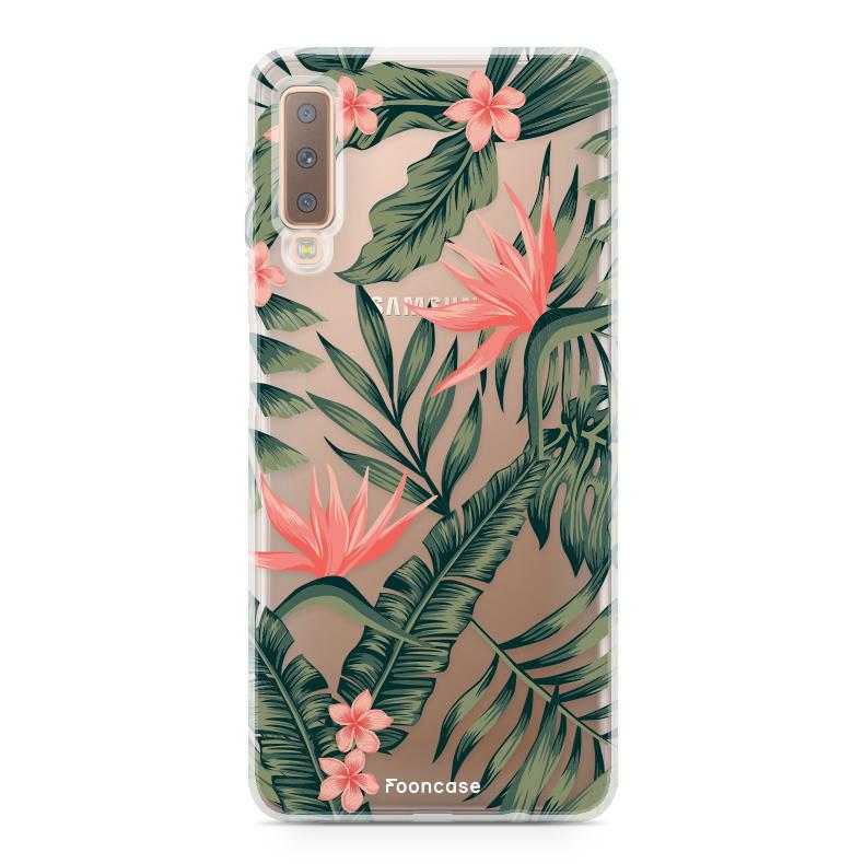 Samsung Samsung Galaxy A7 2018 hoesje - Tropical Desire