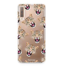 FOONCASE Samsung Galaxy A7 2018 - Cheeky Leopard