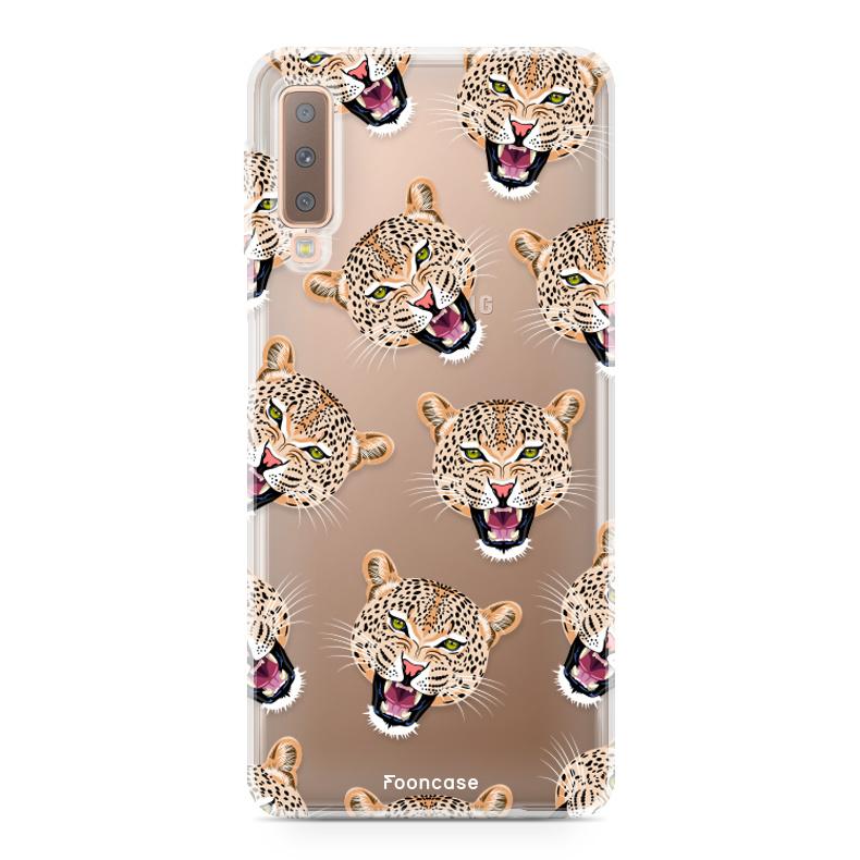 FOONCASE Samsung Galaxy A7 2018 Handyhülle - Cheeky Leopard