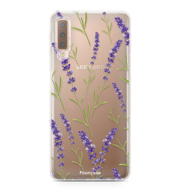 FOONCASE Samsung Galaxy A7 2018 - Purple Flower