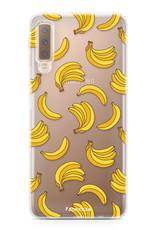 FOONCASE Samsung Galaxy A7 2018 hoesje TPU Soft Case - Back Cover - Bananas / Banaan / Bananen