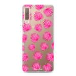 FOONCASE Samsung Galaxy A7 2018 - Rosa Blätter