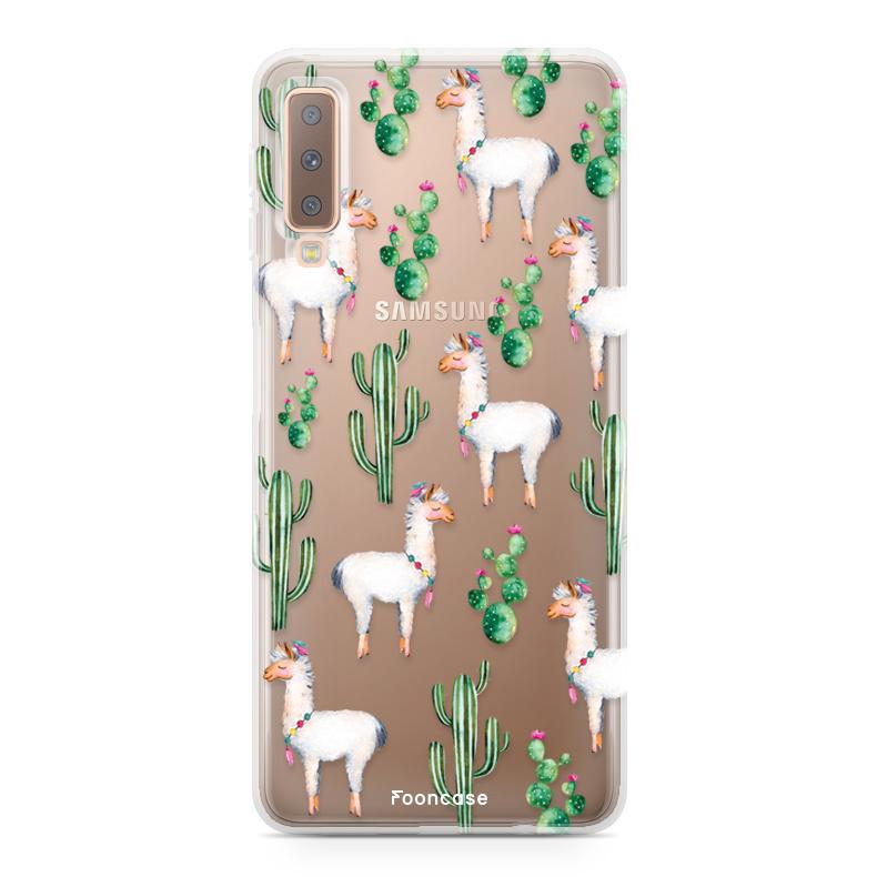 Samsung Samsung Galaxy A7 2018 hoesje - Alpaca