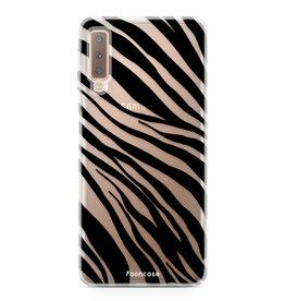 FOONCASE Samsung Galaxy A7 2018 - Zebra