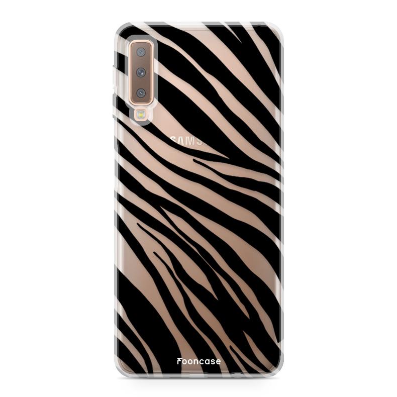 FOONCASE Samsung Galaxy A7 2018 Handyhülle - Zebra