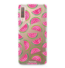 FOONCASE Samsung Galaxy A7 2018 - Watermeloen