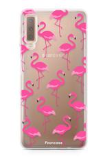 Samsung Samsung Galaxy A7 2018 Handyhülle - Flamingo