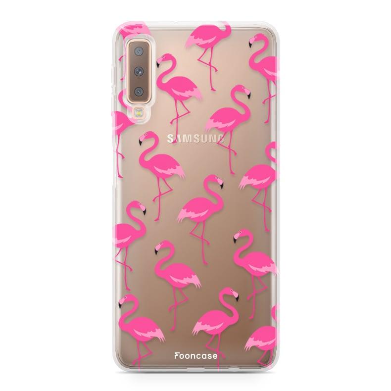 Samsung Samsung Galaxy A7 2018 hoesje - Flamingo