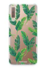 FOONCASE Samsung Galaxy A7 2018 hoesje TPU Soft Case - Back Cover - Banana leaves / Bananen bladeren