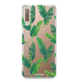 FOONCASE Samsung Galaxy A7 2018 - Banana leaves
