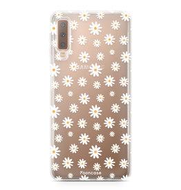 FOONCASE Samsung Galaxy A7 2018 - Daisies