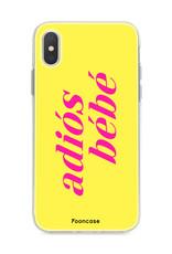 Apple Iphone X hoesje - Adiós Bébé ☀