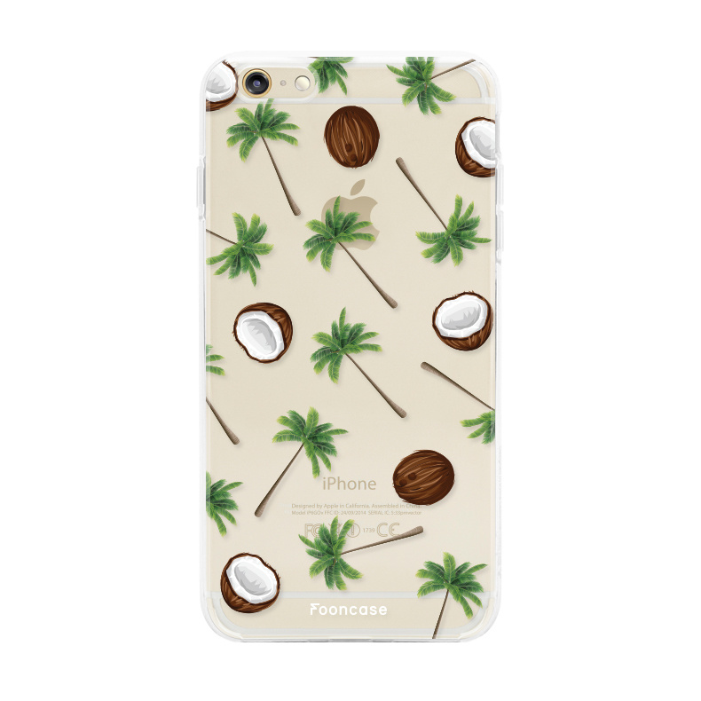 FOONCASE iPhone 6 / 6S hoesje TPU Soft Case - Back Cover - Coco Paradise / Kokosnoot / Palmboom