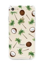 FOONCASE iPhone 7 hoesje TPU Soft Case - Back Cover - Coco Paradise / Kokosnoot / Palmboom