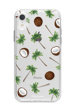FOONCASE iPhone XR hoesje TPU Soft Case - Back Cover - Coco Paradise / Kokosnoot / Palmboom