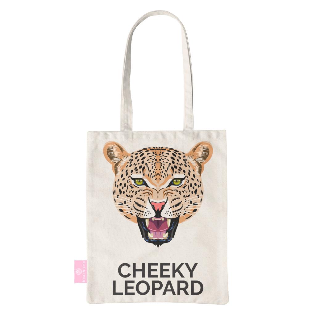 FOONCASE BEACHLANE - Canvas Tote Bag - Cheeky Leopard
