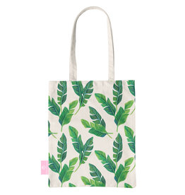 BEACHLANE BEACHLANE - Canvas Tote Bag - Banana leaves
