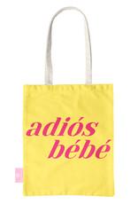 FOONCASE BEACHLANE - Katoenen tasje - Canvas Tote Bag Shopper - Adiós Bébé print - Schoudertas / Boodschappen tas