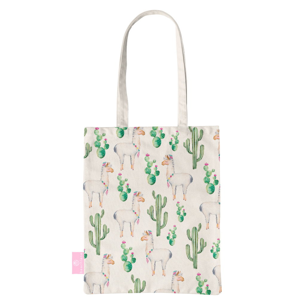 BEACHLANE BEACHLANE - Canvas Tote Bag - Alpaca