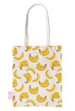 FOONCASE BEACHLANE - Katoenen tasje - Canvas Tote Bag Shopper - Bananas / Banaan / Bananen print - Schoudertas / Boodschappen tas