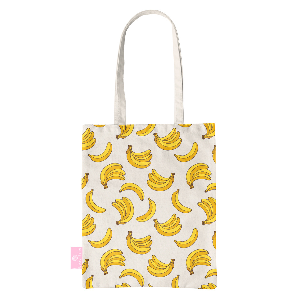 FOONCASE BEACHLANE - Canvas Tote Bag - Bananas / Banaan / Bananen