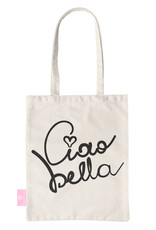 FOONCASE BEACHLANE - Katoenen tasje - Canvas Tote Bag Shopper - Ciao Bella print - Schoudertas / Boodschappen tas
