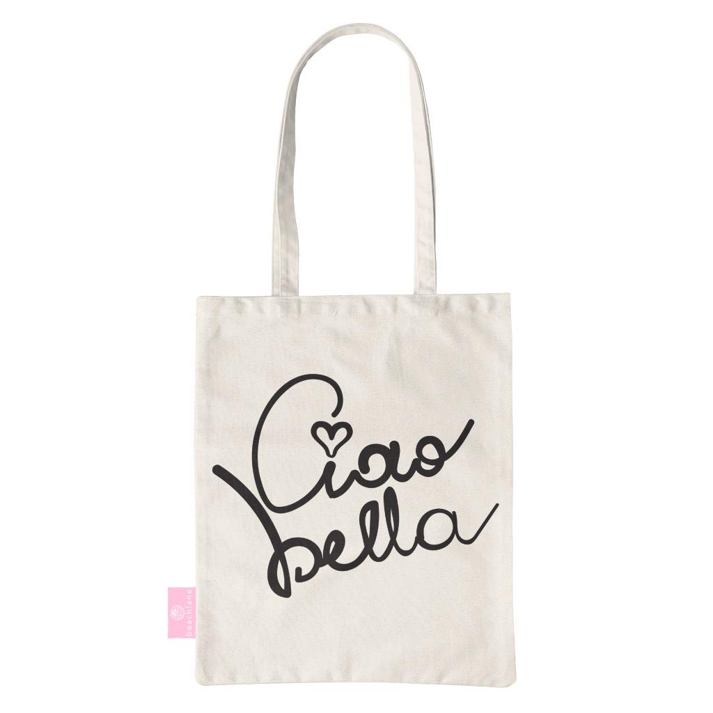 BEACHLANE BEACHLANE - Canvas Tote Bag - Ciao Bella!