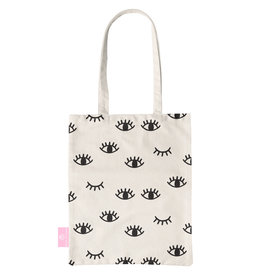 BEACHLANE BEACHLANE - Canvas Tote Bag - Eyes
