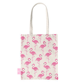 BEACHLANE BEACHLANE - Canvas Tote Bag - Flamingo