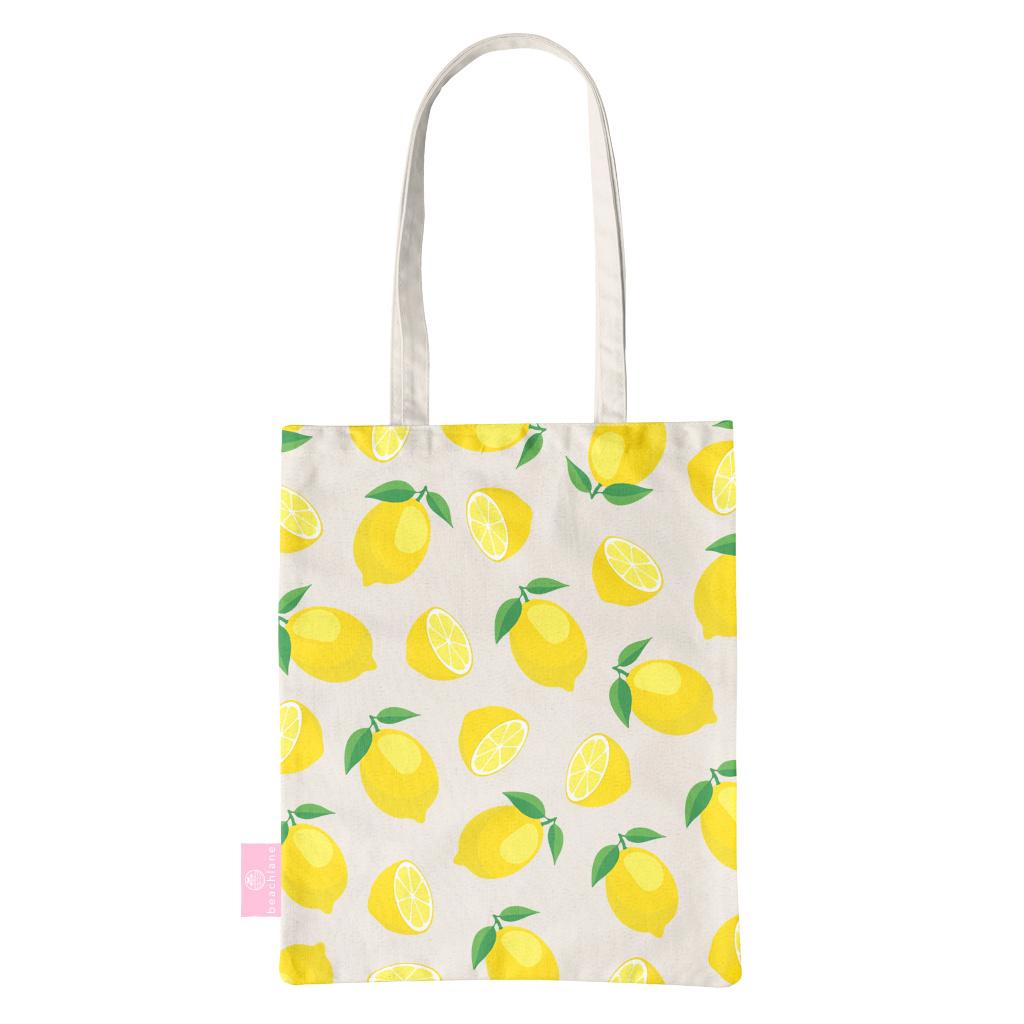 BEACHLANE BEACHLANE - Canvas Tote Bag - Lemons