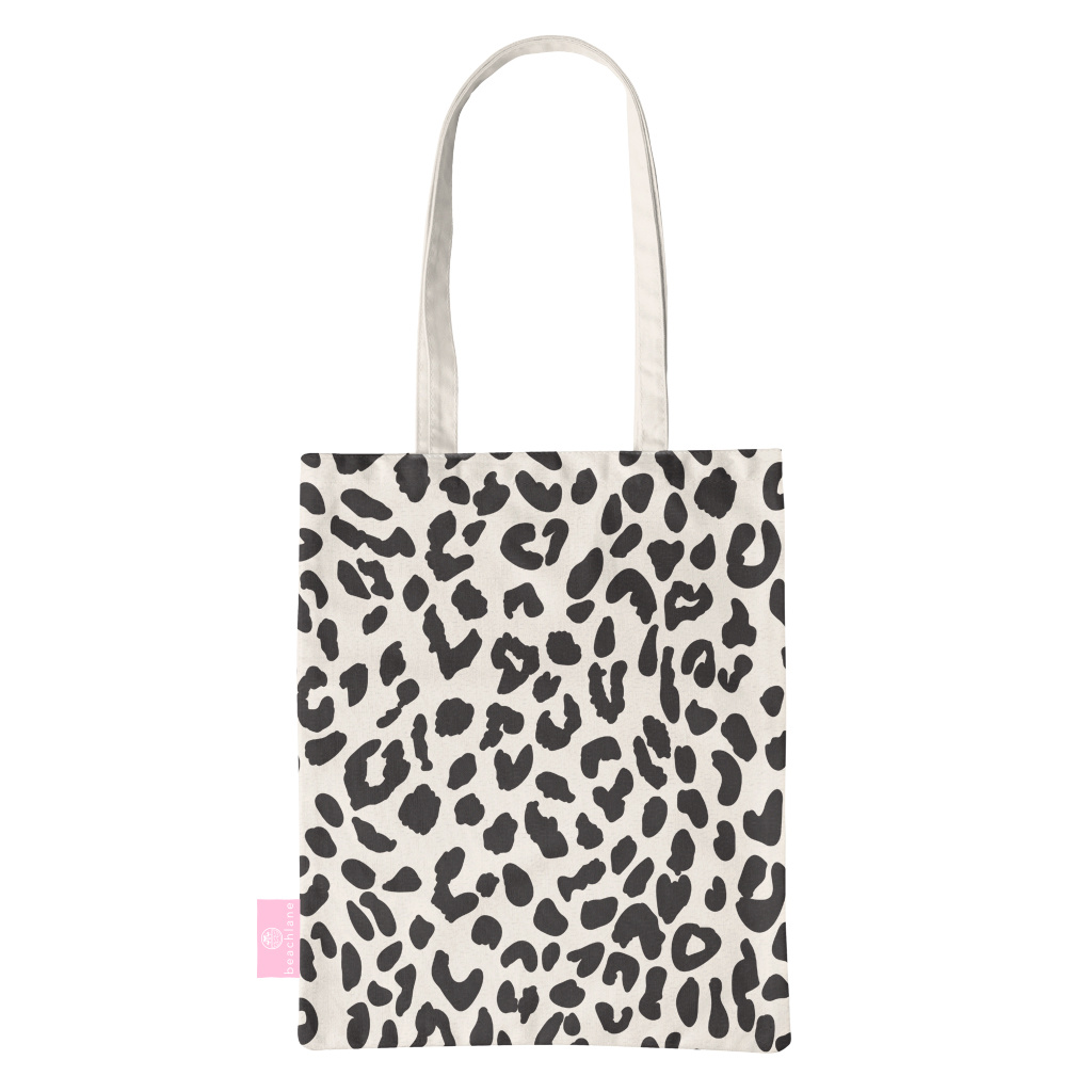 BEACHLANE BEACHLANE - Canvas Tote Bag - Leopard