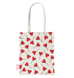 BEACHLANE BEACHLANE - Canvas Tote Bag - Love Pop