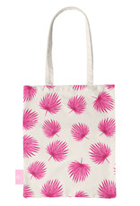 BEACHLANE BEACHLANE - Canvas Tote Bag - Pink Leaves