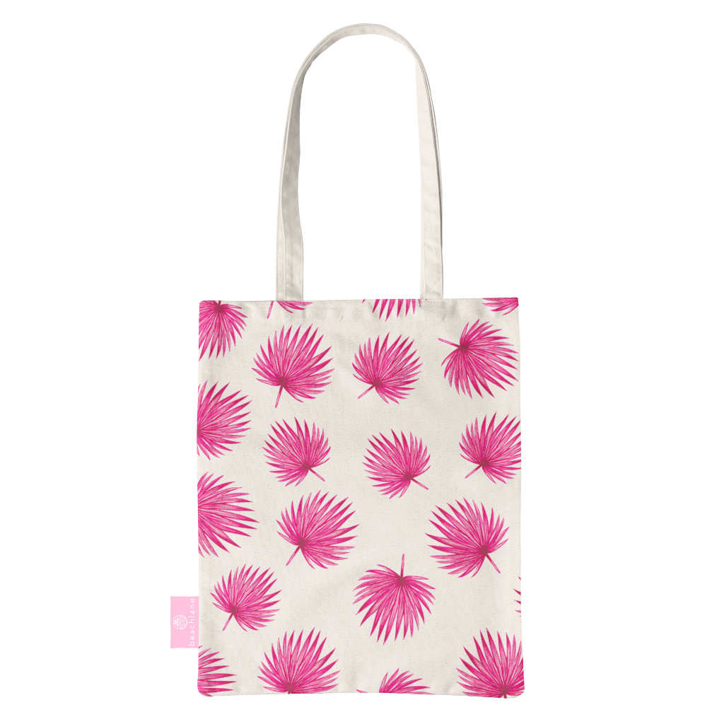 FOONCASE BEACHLANE - Canvas Tote Bag - Pink Leaves