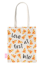 FOONCASE BEACHLANE - Katoenen tasje - Canvas Tote Bag Shopper - Pizza print - Schoudertas / Boodschappen tas