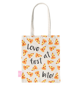BEACHLANE BEACHLANE - Canvas Tote Bag - Pizza