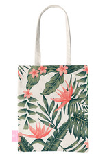 BEACHLANE BEACHLANE - Canvas Tote Bag - Tropical Desire