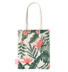 BEACHLANE BEACHLANE - Canvas Tote Bag - Tropical Desire