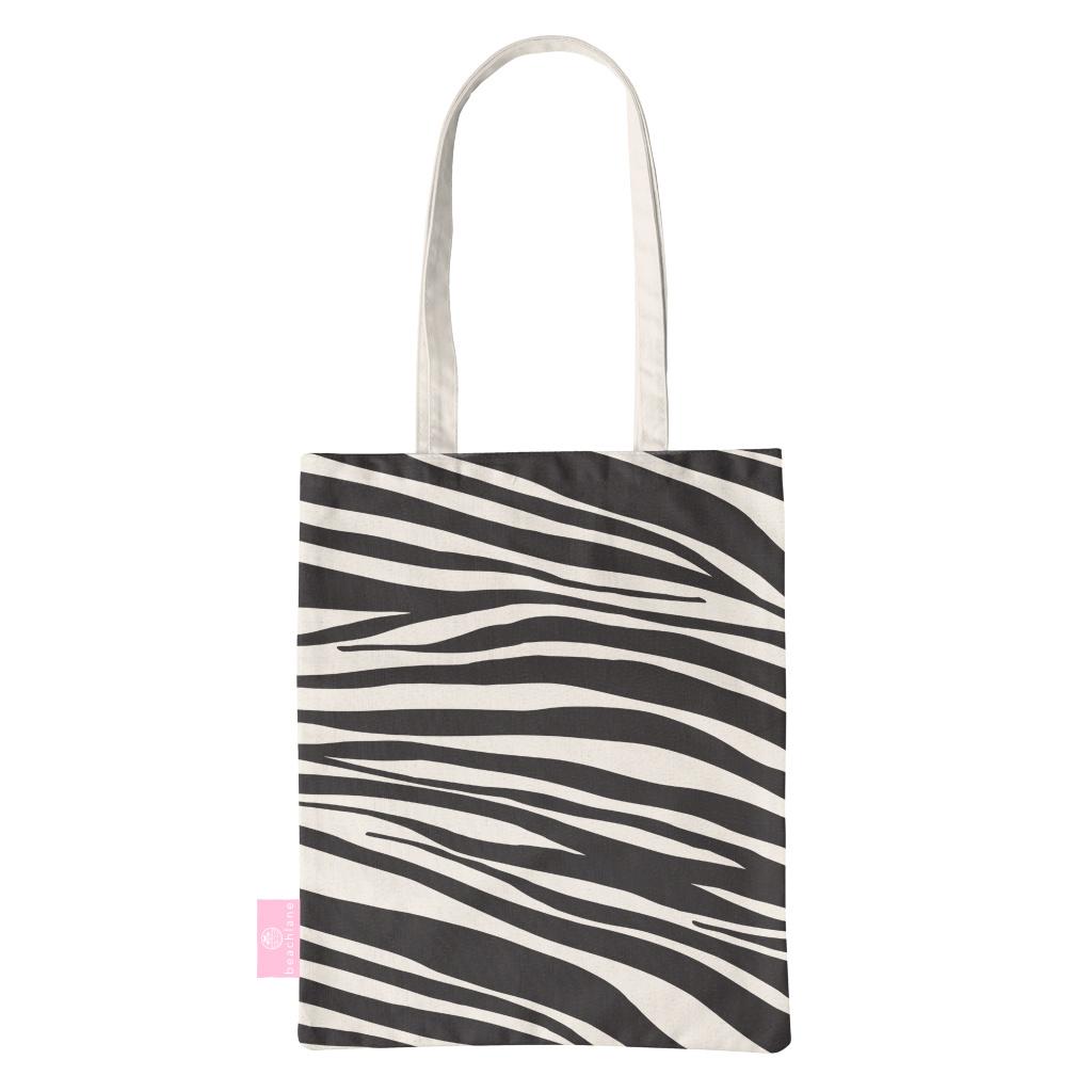 BEACHLANE BEACHLANE - Canvas Tote Bag - Zebra