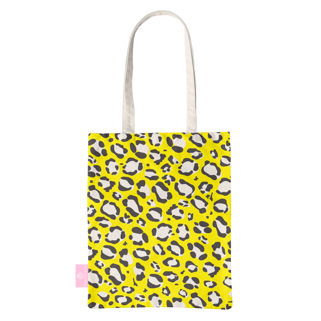 BEACHLANE BEACHLANE - Canvas Tote Bag - Wild Collection - Yellow