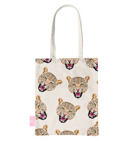 BEACHLANE BEACHLANE - Canvas Tote Bag - Cheeky Leopard