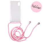 FOONCASE Iphone XR - Festicase Roze (Telefoonhoesje met koord)