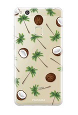 FOONCASE Huawei P10 Lite hoesje TPU Soft Case - Back Cover - Coco Paradise / Kokosnoot / Palmboom