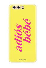 FOONCASE Huawei P10 hoesje TPU Soft Case - Back Cover - Adiós Bébé ☀ / Geel & Roze