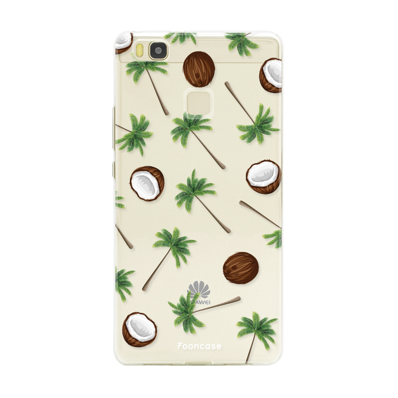 FOONCASE Huawei P9 Lite hoesje TPU Soft Case - Back Cover - Coco Paradise / Kokosnoot / Palmboom