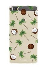 FOONCASE Huawei P8 Lite 2016 hoesje TPU Soft Case - Back Cover - Coco Paradise / Kokosnoot / Palmboom